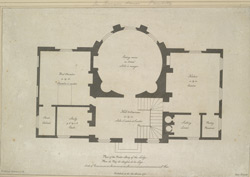 Plan of the parlor story of the lodge